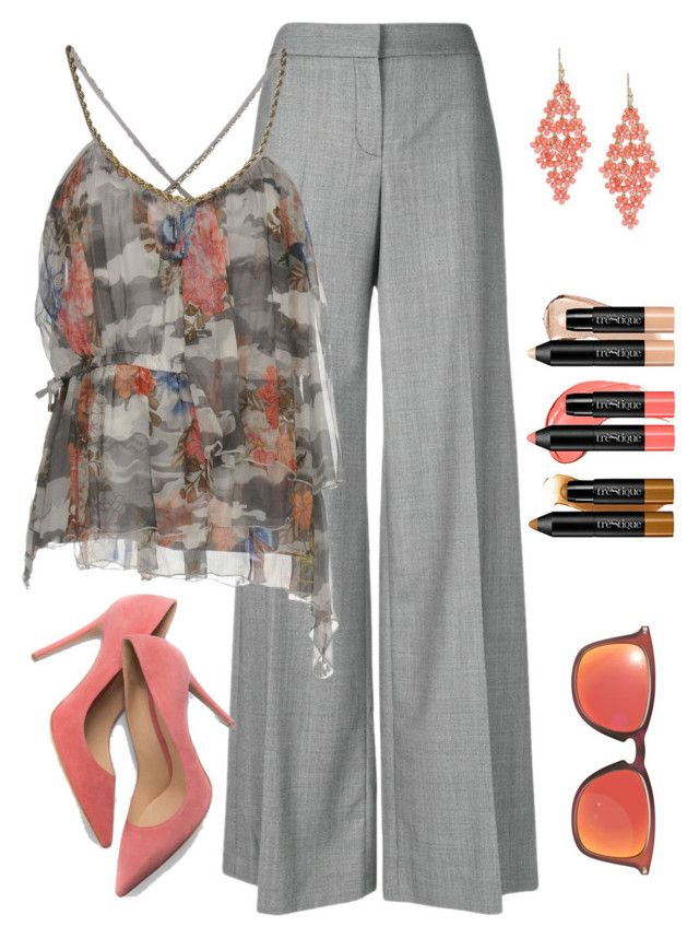 """""""Untitled #942"""" by izzystarsparkle on Polyvore featuring Alexander McQueen, Atos Lombardini, Design Lab, trèStiQue, Ray-Ban and M. Gemi"""