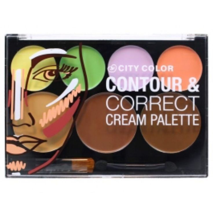 CONTOUR & CORRECT CREAM PALET.PRECIO $ 165.00. Paleta de Correctores de CITY COLOR