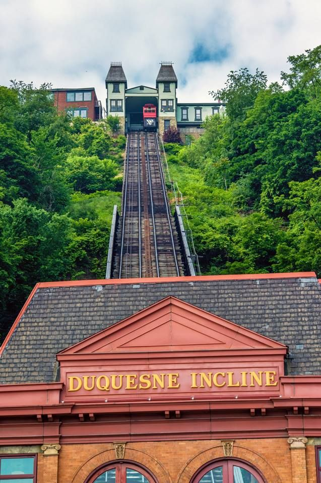 Duquesne Incline, Pittsburgh.  Been there, done that!  Really neat!