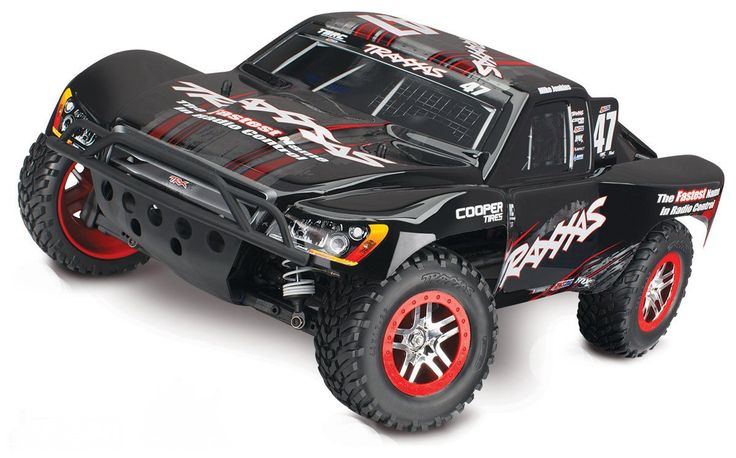 SLASH 4X4 1/10 BL S.C. RACE TRUCK, RTR W/ON BOARD AUDIO