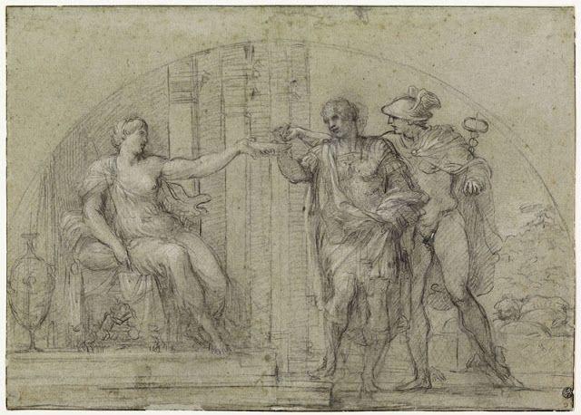 Ο Οδυσσέας μπροστά στην Κίρκη σώζεται από τον Ερμή