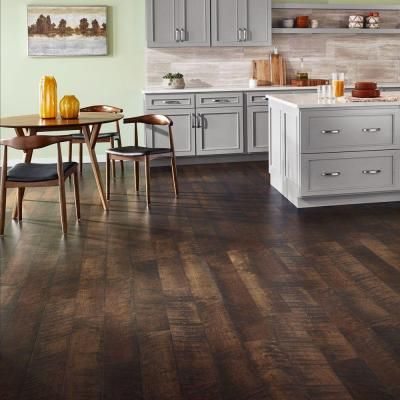 High Quality Pergo Outlast+ Molasses Maple 10 Mm Thick X 6 1/8 In. Wide X 47 1/4 In.  Length Laminate Flooring (16.12 Sq. Ft. / Case), Dark