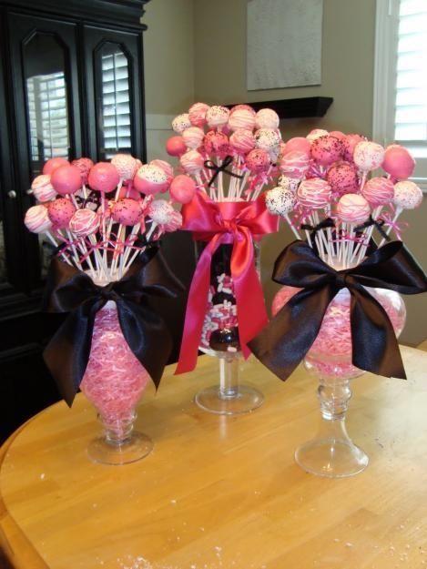center sarah-s-shower: Cakes Pop Display, Shower Cakes, Cake Pop, Bridal Shower, Parties Ideas, Centerpieces, Graduation Parties, Center Pieces, Baby Shower