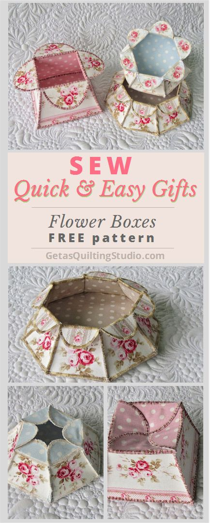 Flower boxes tutorial + free download- templates for square, hexagonal and octagonal boxes