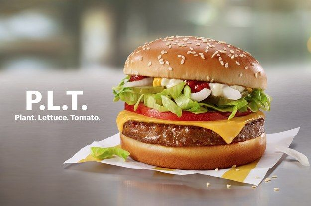 Mcdonald S Announced Their New Plant Based Burger The P L T Plant Based Burgers Beyond Meat Burger Vegan Fast Food