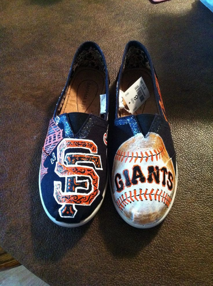 San Francisco Giants Shoes -Hand painted http://lorenerh.com