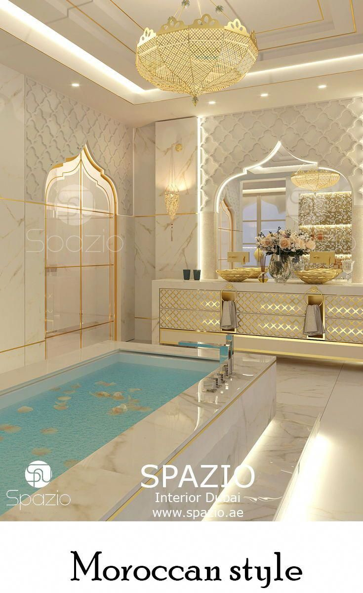Moroccan pattern elements in bathroom interior design and decoration for a luxury house more moroccan style design ideas for h luxury home interior in