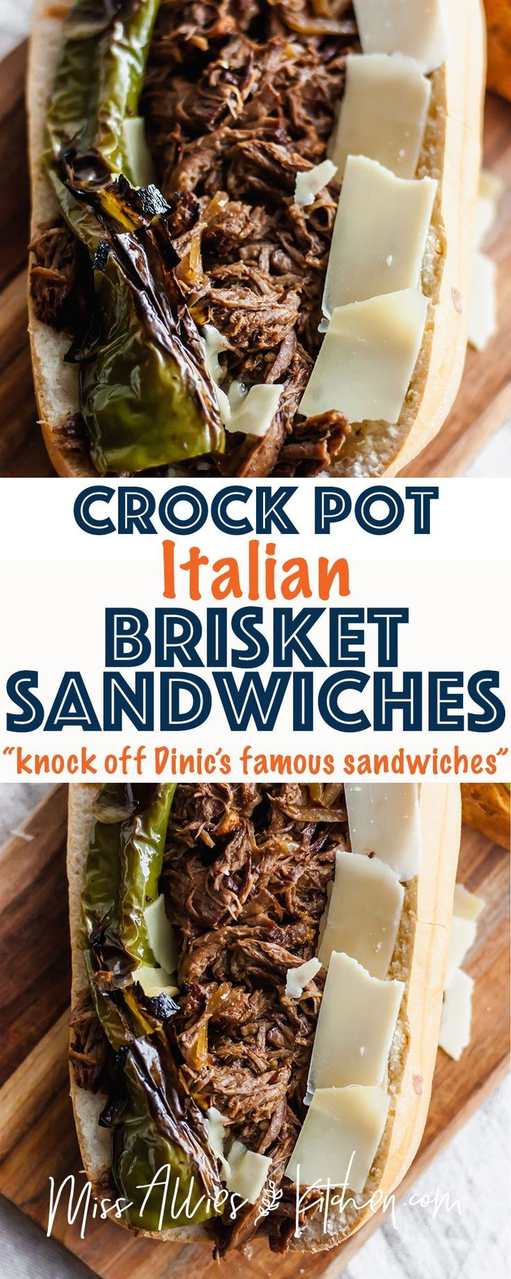 Healthier Slow Cooker Brisket Sandwiches - 2 Ways! The juiciest and easiest way to make pulled brisket right in the slow cooker! This recipe provides a traditional way and a way to make these gluten and grain free! We bet you'll have great ideas for leftovers! #brisket #crockpot #slowcooker #meat #beef #grainfree #glutenfree #healthy #healthyfood