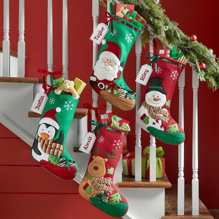 New*– Holiday Presents Stocking Your little ones will be begging to put up these cuddly stockings long before the holidays arrive! Darling embroidered faces, satin ribbon Personalize with any name up to 9 characters. Choose Reindeer, Santa, Snowman or Penguin. http://kittykatkoutique.com/new-holiday-presents-stocking/