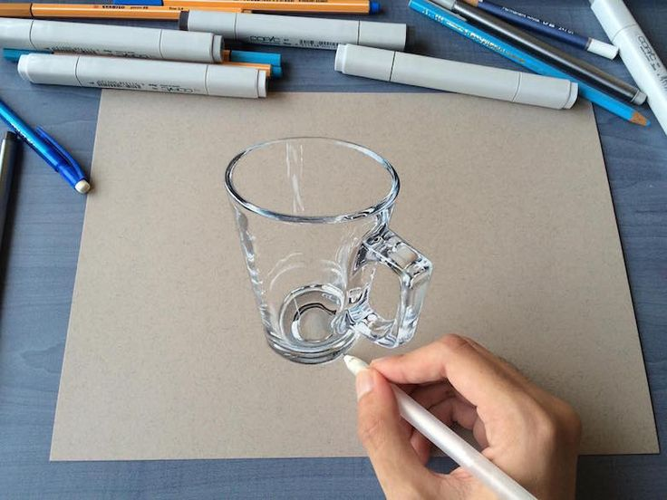 Hyperrealistic 3d drawings by Sushant Rane: Glass - 2