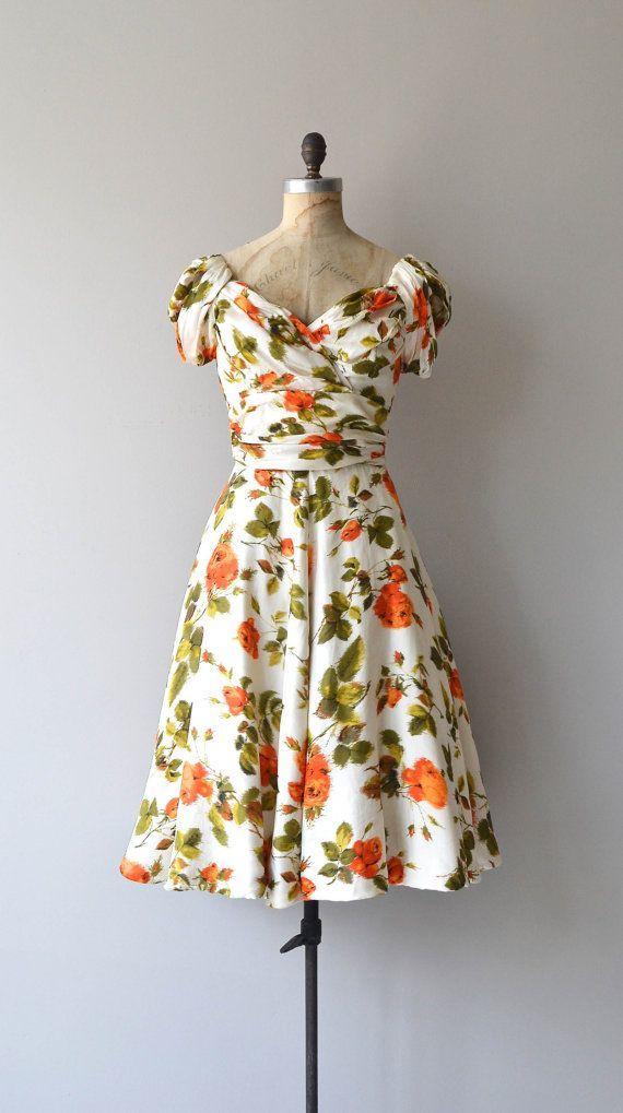 Hattie Carnegie dress 1950s vintage dress 1950s by DearGolden