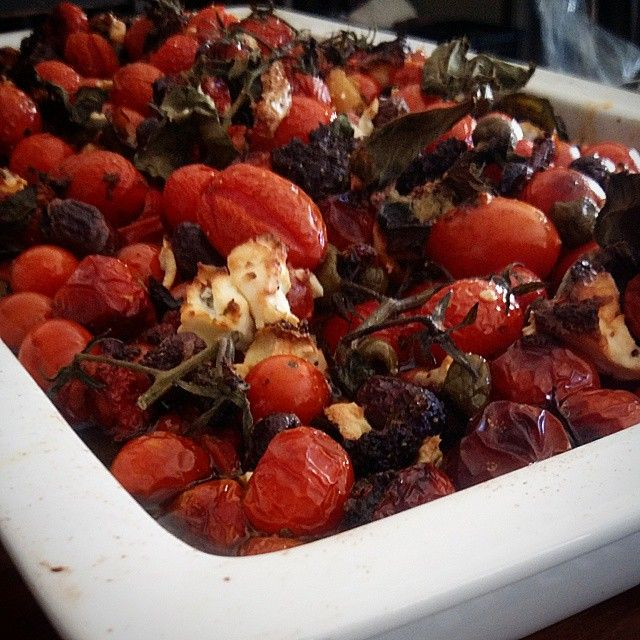Vegetarian Bake - Roast Cherry Tomato, Peppers, Calamata Olives and Feta Cheese