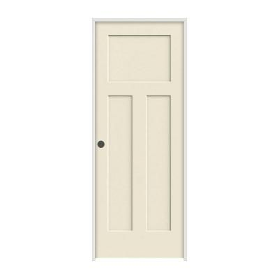Jeld Wen Craftsman Smooth 3 Panel Primed Molded Prehung