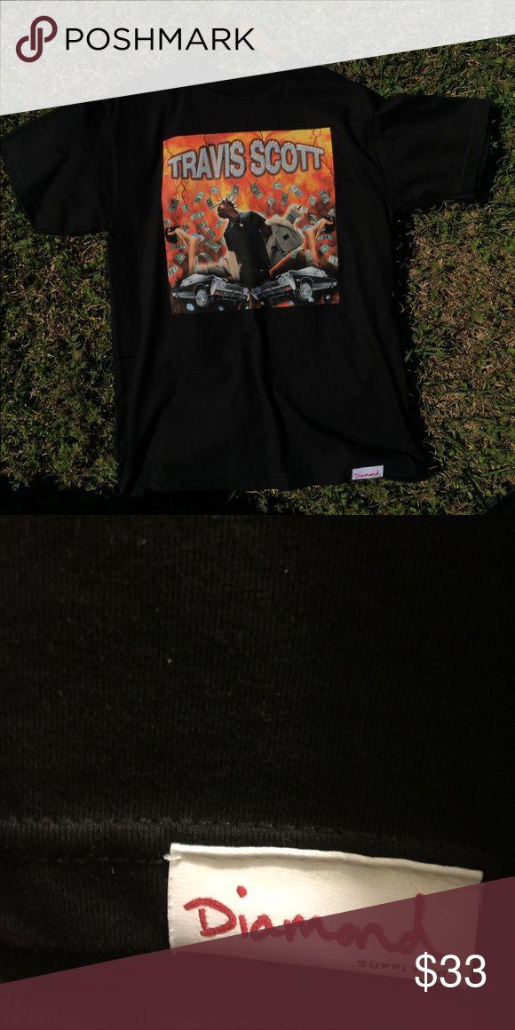 Travis Scott tour merch tee shirt Travis Scott tour merch tee shirt from concert, size Medium.10/10 condition never been worn. Diamond Supply Co. Shirts Tees - Short Sleeve