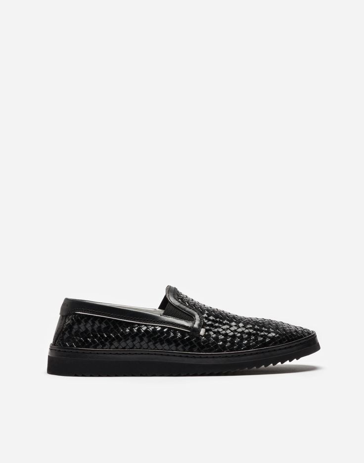 DOLCE & GABBANA Slip On In Woven Leather. #dolcegabbana #shoes #