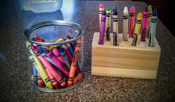 My first Crayon Holder