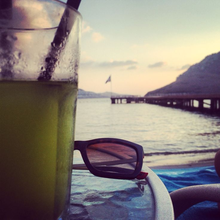 Happiness has direct connection with Sandoz, sea and sunset...