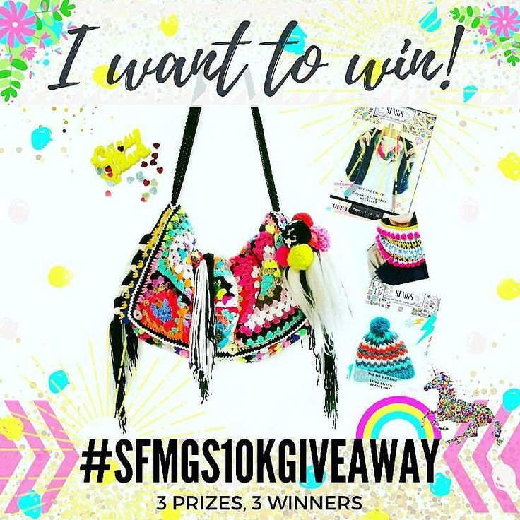 Happy Friday!!  don't forget there's still time to enter... contest closes tonight at midnight GMT  3 prizes and 3 winners      It's #sfmgs10kgiveaway time!  3 prizes! 3 winners!   1st PRIZE : 1.Exclusive Scrappy Granny Oversized bag with Foxtail and Pom Pom Charm both brand new to SFMGS and @sfmgs.elements 2. 3 free pdf patterns: Bloom Bunny Off the Chain and Mr B Beanie  2nd PRIZE: 1. Super cute @lanaboushop yellow Gypsy Queens acrylic necklace 2. 3 free pdf patterns as above  3rd PRIZE…