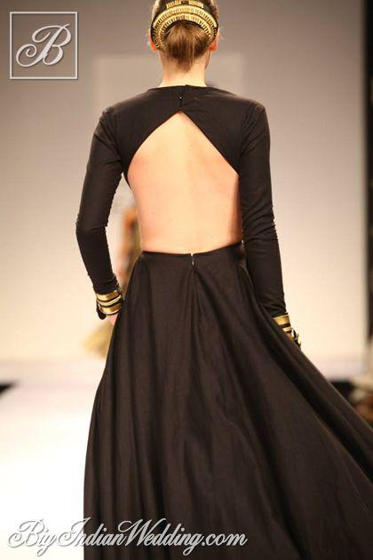 Nikhil Thampi designer backless gown