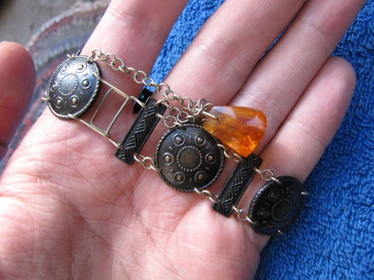Baltic amber bracelet Lettland Latvia National costums accessories  琥珀 USSR…