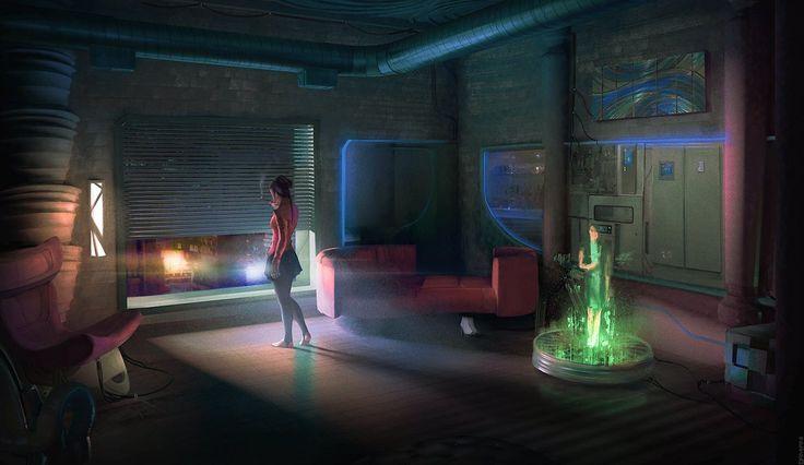 17 best images about futureworlds on pinterest for Cyberpunk interior design