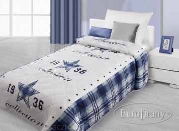 Narzuta dekoracyjna ASTRE 170x210 Eurofirany niebieska | Narzuty - SKLEP KZ