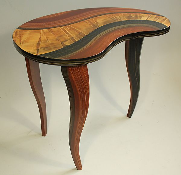 Bean Table by Ingela Noren and Daniel Grant: Wood Side Table available at www.artfulhome.com