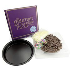 The Gourmet Chocolate Pizza Company Make Your Own Chocolate Pizza The kit comes with a 7 pizza tin, high quality ingredients including white chocolate flakes, jelly beans and rainbow drops with full instructions perfectly served up in a pizza box... everyone can now http://www.MightGet.com/january-2017-13/the-gourmet-chocolate-pizza-company-make-your-own-chocolate-pizza.asp