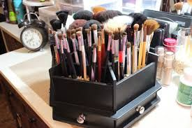 Image result for makeup brush storage ideas