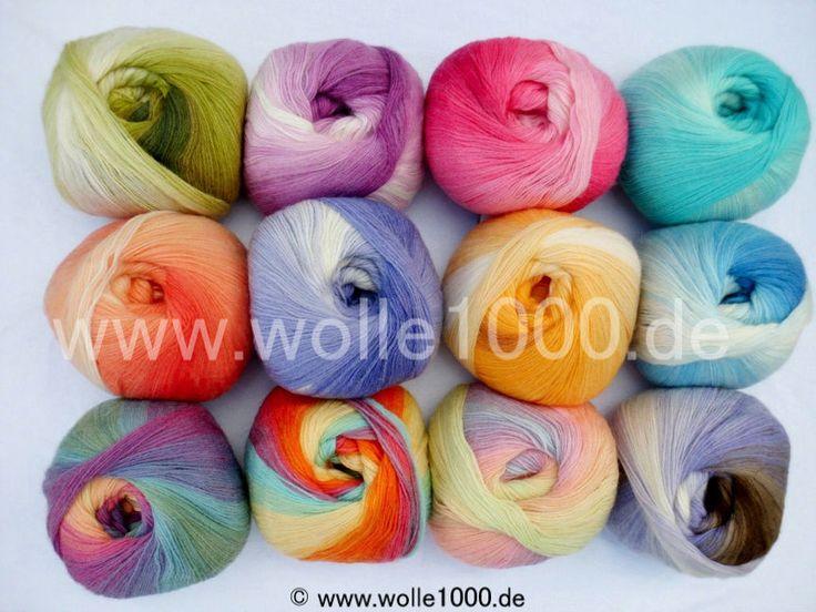 100g Papatya Angora Design !!! Türkische Wolle mit tollem Farbverlauf !!! NEU