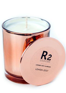 R2 Designs Lemon Zest Copper Candle