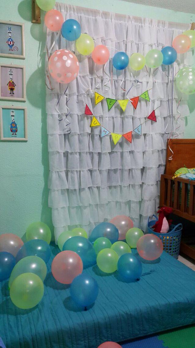 Sorpresa de cumplea os en la habitaci n detalles for Ideas para decorar habitacion con fotos