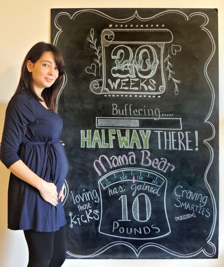 Pregnancy chalkboard, 20 weeks. Weekly belly pictures.