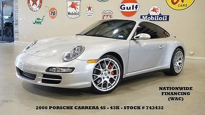 2006 Porsche 911  06 911 CARRERA 4S COUPE,6 SPD TRANS,SUNROOF,NAV,HTD LTH,19IN WHLS,43K,WE FINANCE