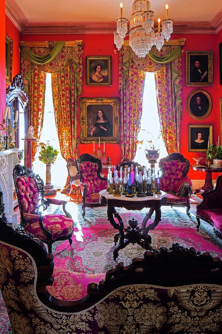 Victorian parlor curtains images for Decoration accessoire