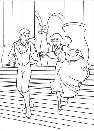 Cinderella coloring page 7