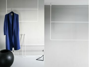 CLOTHING RAIL RECTANGLE WHITE