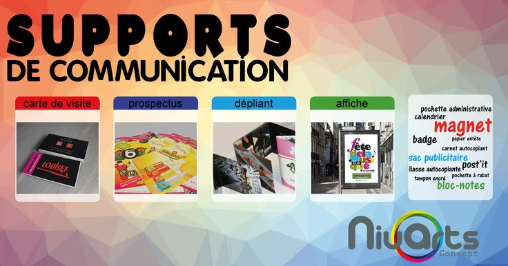 Support de communication.  Niuarts Concept imprime vos visuels, petit ou grand format.