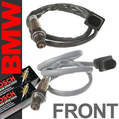 2pc BMW Oxygen Sensor Set Front/Upstream/Pre Bank 1 & 2 Bosch OEM Plug O2 02