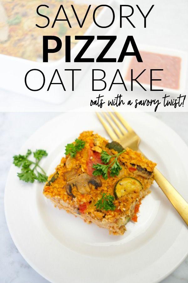 Savory Pizza Oat Bake