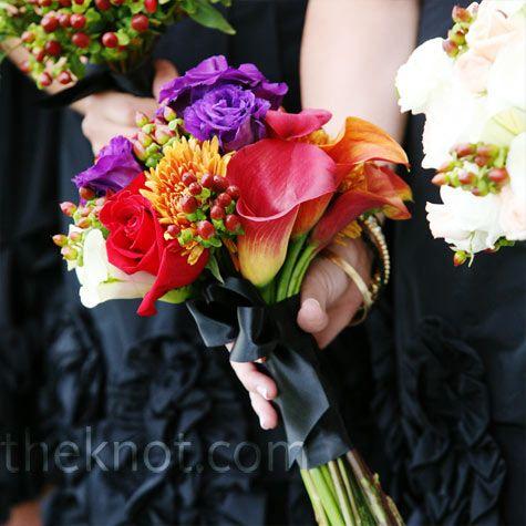 Autumn-inspired Bridesmaid Bouquets