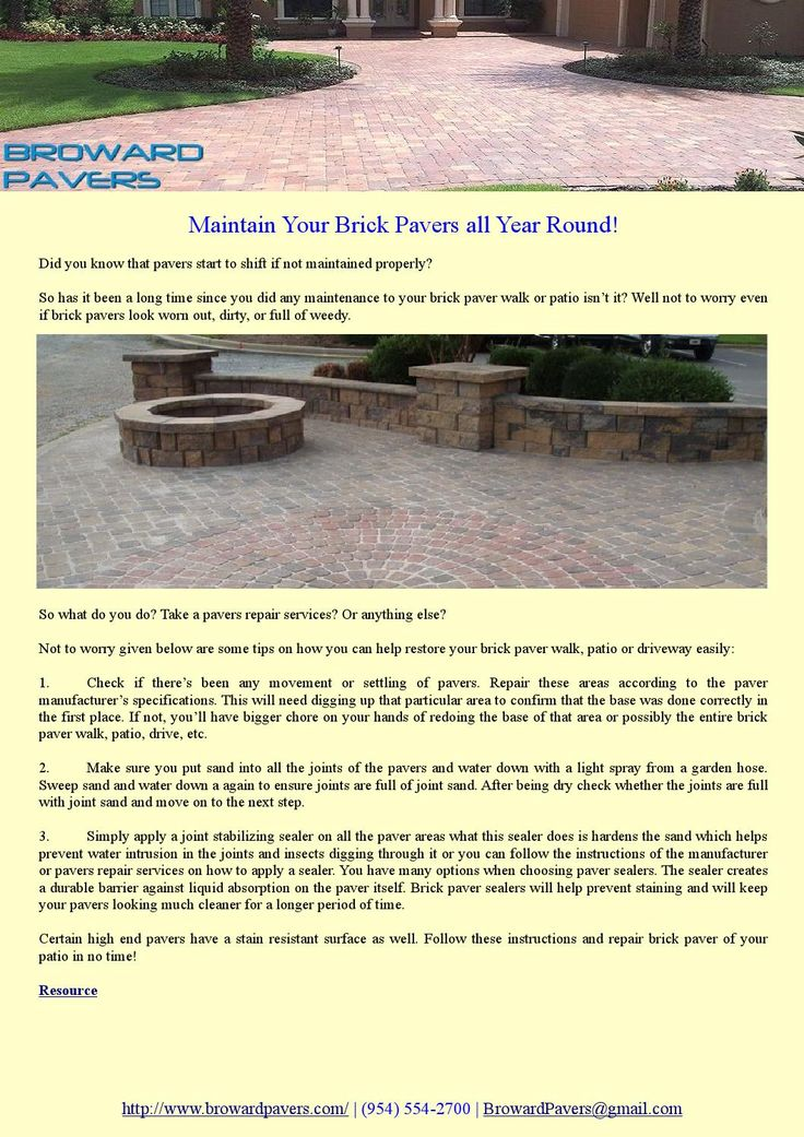 Did you know that pavers start to shift if not maintained properly? So has it been a long time since you did any maintenance to your brick paver walk or patio isn't it? Well not to worry even if brick pavers look worn out, dirty, or full of weedy.