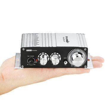 BlitzWolf® BW-AP1 20w Mini 12v de potencia estéreo de alta fidelidad de audio amplificador de coche digital de FM MP3