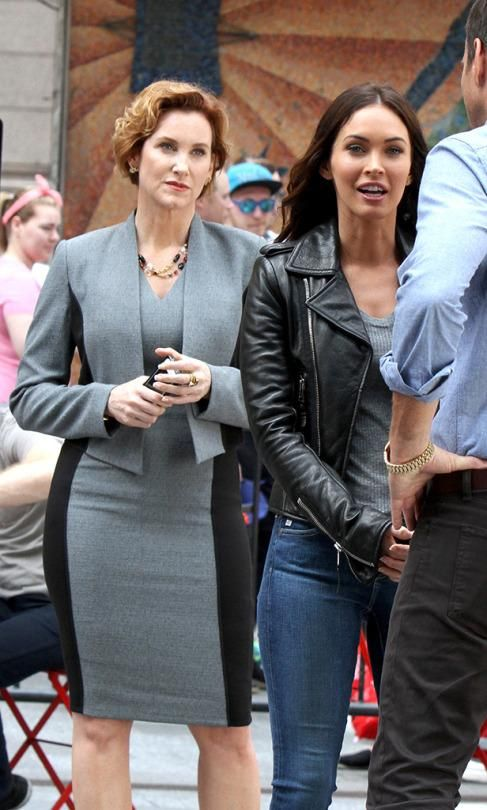 Megan Fox and Judith Hoag shooting 'TMNT 2.'