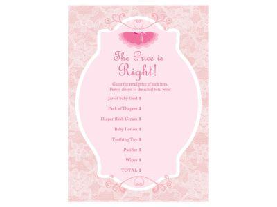 price is right, Tutu, Ballerina Baby Shower Game Pack, Ballet baby shower game Printables, ballet Baby Shower, pink tutu baby shower, tiny dancer, TLC36 #babyshowerideas4u #birthdayparty  #babyshowerdecorations  #bridalshower  #bridalshowerideas #babyshowergames #bridalshowergame  #bridalshowerfavors  #bridalshowercakes  #babyshowerfavors  #babyshowercakes