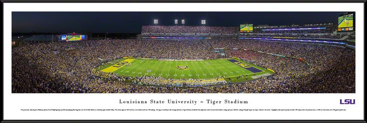 Louisiana State University Tigers Panoramic Picture - LSU Tiger Stadium- Football