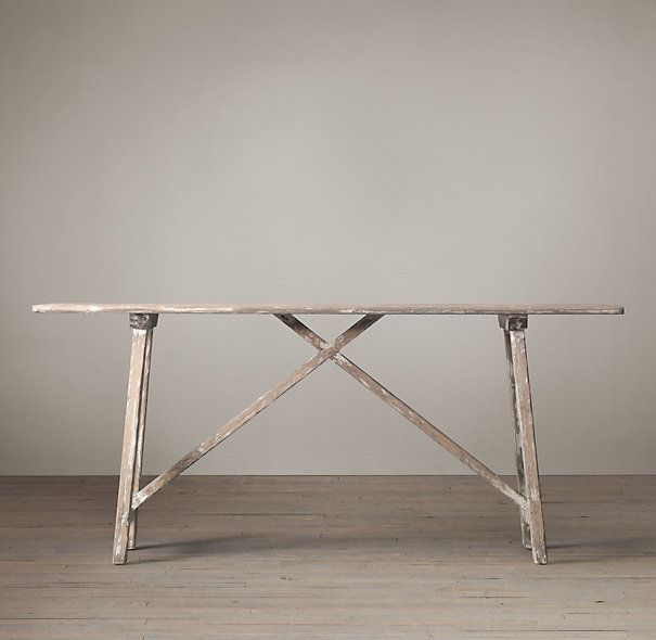 Alsace studio console table janet 39 s redesign pinterest studios hardware and restoration - Restoration hardware entry table ...