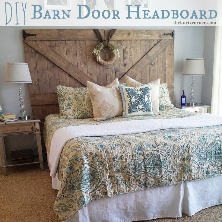 The Kurtz Corner: DIY Barn Door Headboard