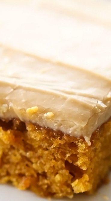 Caramel Pumpkin Sheet Cake