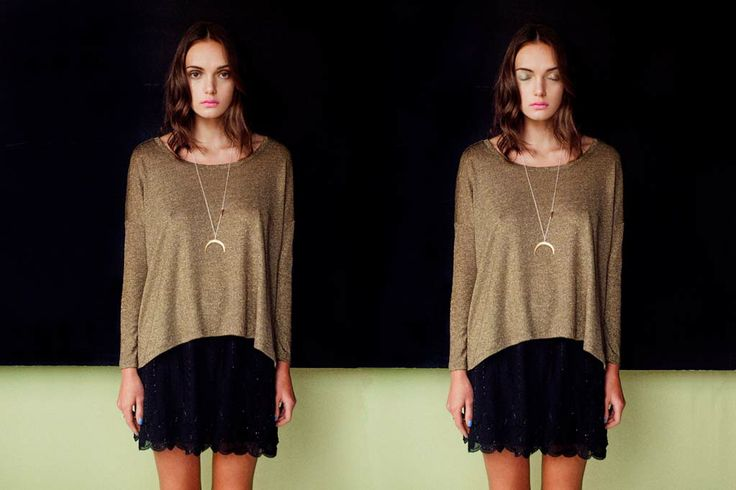 Gentle Fawn Gold Shimmer Top and Black Luster skirt